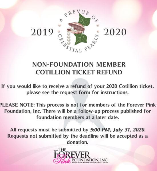 Cotillion Ticket Refund